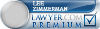 Lee W. Zimmerman  Lawyer Badge