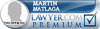 Martin Donald Matlaga  Lawyer Badge
