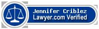 Jennifer Mae Criblez  Lawyer Badge