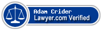Adam Crider  Lawyer Badge