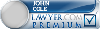 John HW Cole  Lawyer Badge