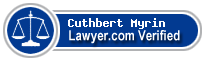 Cuthbert L. Myrin  Lawyer Badge