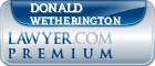 Donald L. Wetherington  Lawyer Badge
