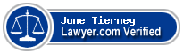 June Elizabeth Tierney  Lawyer Badge