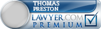 Thomas Foster Preston  Lawyer Badge