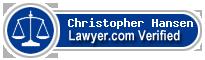 Christopher Marshall Hansen  Lawyer Badge
