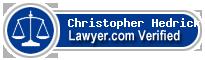 Christopher Roland Hedrick  Lawyer Badge