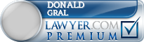 Donald J. Gral  Lawyer Badge
