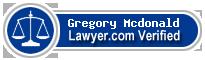 Gregory John Mcdonald  Lawyer Badge