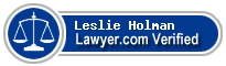 Leslie Ann Holman  Lawyer Badge