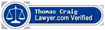 Thomas Mitchell Craig  Lawyer Badge