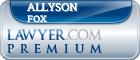 Allyson Beth Fox  Lawyer Badge