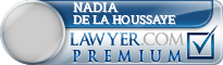 Nadia Marie De La Houssaye  Lawyer Badge