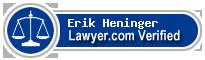 Erik Stephen Heninger  Lawyer Badge