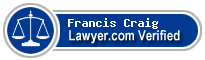 Francis S Craig  Lawyer Badge