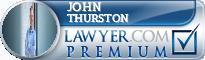 John Wallace Thurston  Lawyer Badge