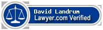 David Arthur Landrum  Lawyer Badge