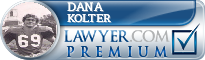 Dana Ray Kolter  Lawyer Badge