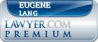 Eugene A. Lang  Lawyer Badge