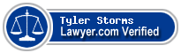 Tyler Graham Storms  Lawyer Badge