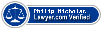 Philip A. Nicholas  Lawyer Badge