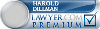 Harold E. Dillman  Lawyer Badge