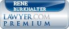 Rene R. Burkhalter  Lawyer Badge