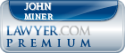 John B. Miner  Lawyer Badge