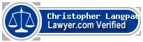 Christopher J. Langpaul  Lawyer Badge
