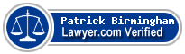 Patrick J. Birmingham  Lawyer Badge