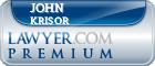 John Dominick Krisor  Lawyer Badge
