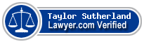 Taylor Caillet Sutherland  Lawyer Badge