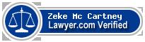 Zeke Robert Mc Cartney  Lawyer Badge