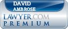 David Ray Ambrose  Lawyer Badge