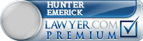 Hunter Brooks Emerick  Lawyer Badge