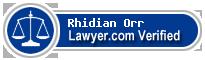 Rhidian David Watson Orr  Lawyer Badge