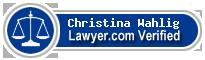 Christina Emile Wahlig  Lawyer Badge