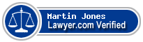 Martin T Jones  Lawyer Badge