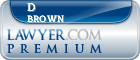 D Wayne Brown  Lawyer Badge