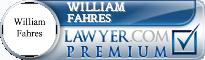 William John Fahres  Lawyer Badge