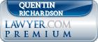 Quentin W. Richardson  Lawyer Badge