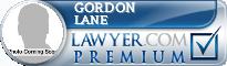 Gordon C. Lane  Lawyer Badge