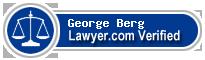 George V. Berg  Lawyer Badge
