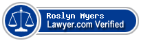 Roslyn Myers  Lawyer Badge