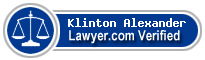 Klinton West Alexander  Lawyer Badge