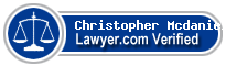 Christopher Brian Mcdaniel  Lawyer Badge