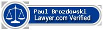 Paul Lawrence Brozdowski  Lawyer Badge