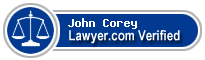 John Larson Corey  Lawyer Badge