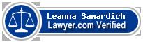 Leanna R. Samardich  Lawyer Badge