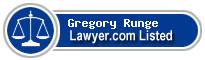 Gregory Runge Lawyer Badge